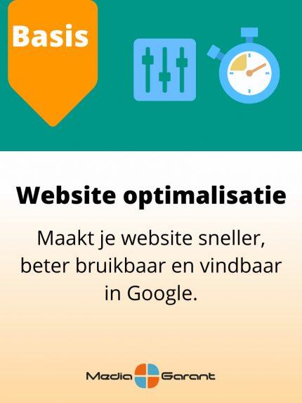 websiteoptimalisatie MediaGarant Basis