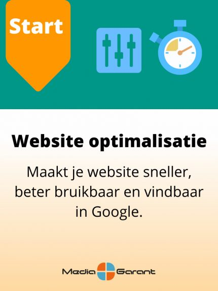 websiteoptimalisatie MediaGarant start pakket